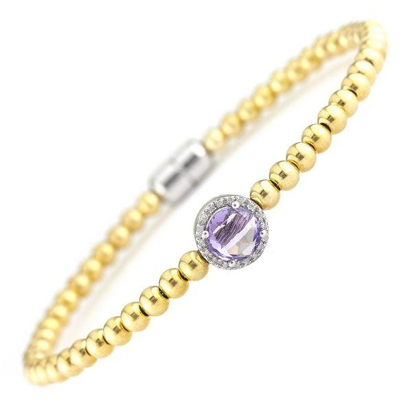 Gold Plated Amethyst Magnetic Bracelet