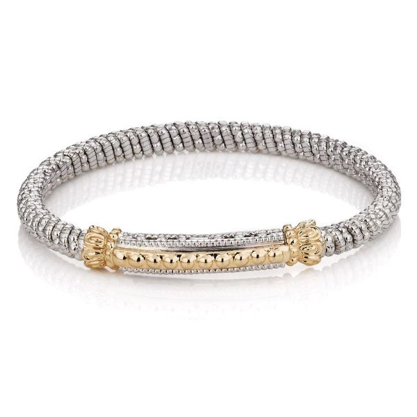 14 kt Yellow Gold and Sterling Silver Bar Bracelet  Image 2 Parris Jewelers Hattiesburg, MS