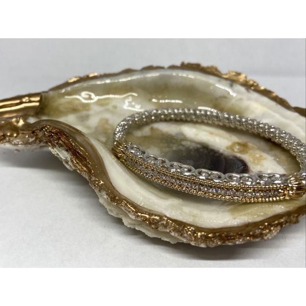 14 kt and Sterling Silver Diamond Bar Bracelet by Alwand Vahan  Image 2 Parris Jewelers Hattiesburg, MS
