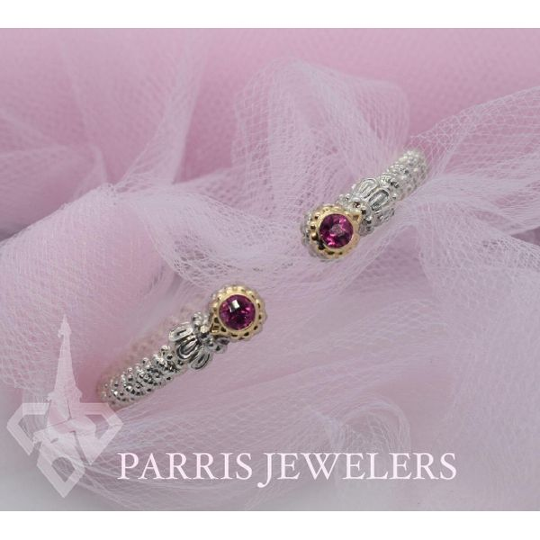14 kt Yellow Gold and Sterling Silver Bracelet  by Alwand Vahan with Pink Topaz  Image 2 Parris Jewelers Hattiesburg, MS