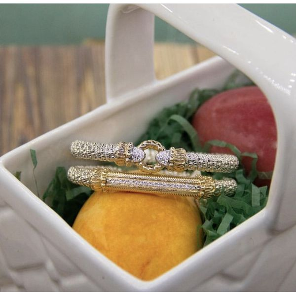 14 kt Yellow Gold and Sterling Silver Bracelet  by Alwand Vahan with Diamond Accents Image 2 Parris Jewelers Hattiesburg, MS