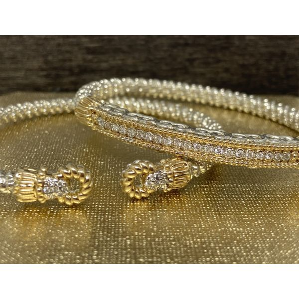 14 kt and Sterling Silver Bracelet by Alwand Vahan with Diamond Accents  Image 2 Parris Jewelers Hattiesburg, MS