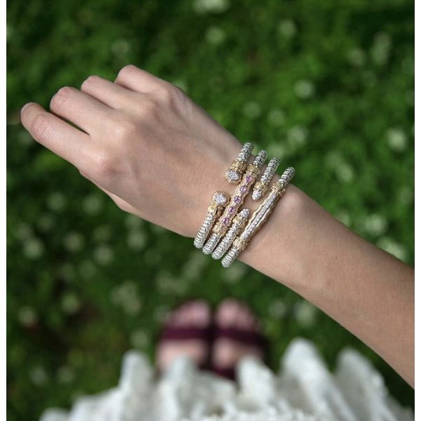 14 kt Yellow Gold and Sterling Silver with Diamonds Bracelet by Alwand Vahan  Image 2 Parris Jewelers Hattiesburg, MS
