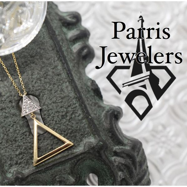 14 kt Gold Triangle Diamond Necklace Image 2 Parris Jewelers Hattiesburg, MS