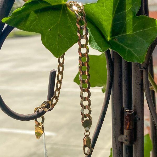 10k Yellow Gold Curb Chain Bracelet Image 2 Parris Jewelers Hattiesburg, MS
