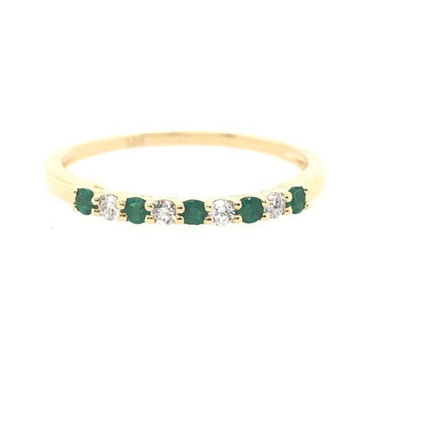 14 kt Yellow Gold Emerald and Diamond Band
