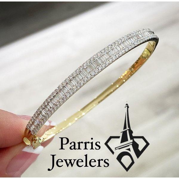 14 kt Yellow Gold Diamond Bangle Bracelet  Image 2 Parris Jewelers Hattiesburg, MS