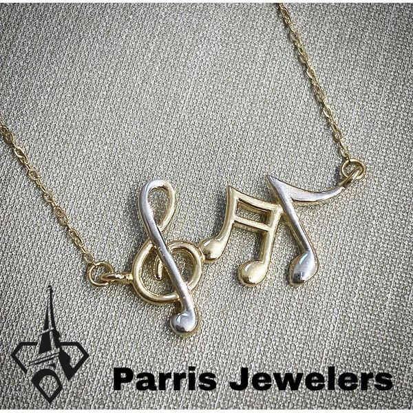 Musical Note Necklace  Image 2 Parris Jewelers Hattiesburg, MS