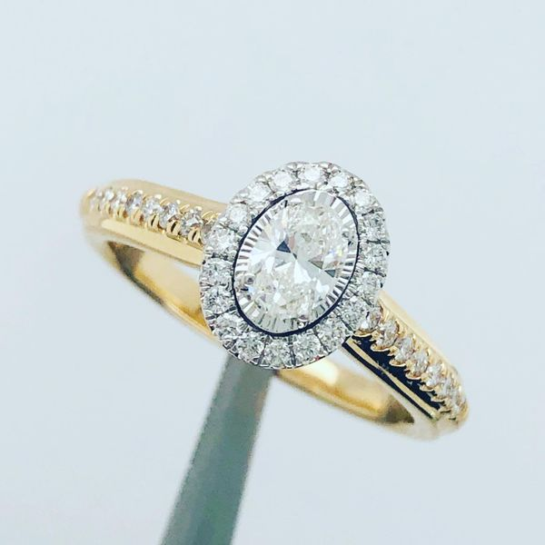 14 kt Yellow Gold Diamond Engagement Ring Complete Image 2 Parris Jewelers Hattiesburg, MS