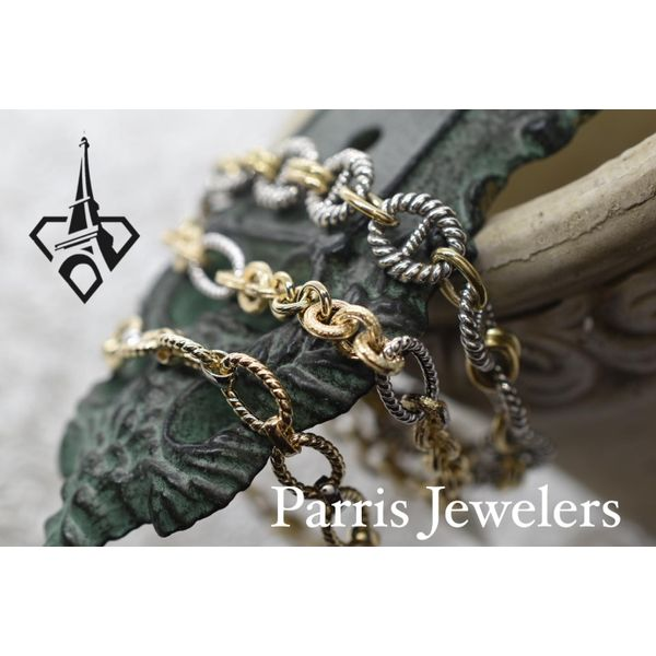 Sterling Silver and 18 ky Yellow Gold Link Bracelet  Image 2 Parris Jewelers Hattiesburg, MS