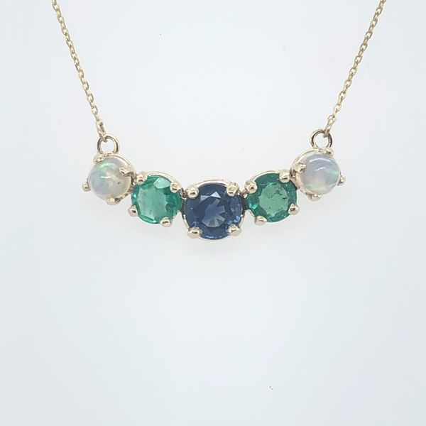 Opal-Sapphire-Emerald Necklace
