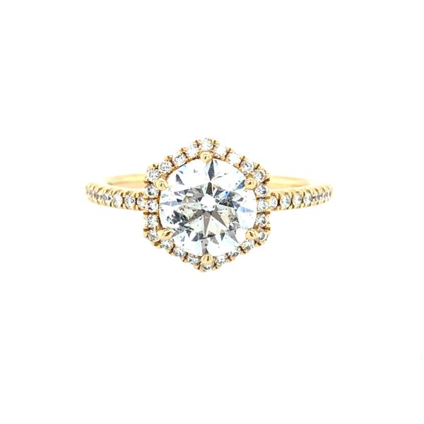 14 kt Yellow Diamond Engagement Ring Complete
