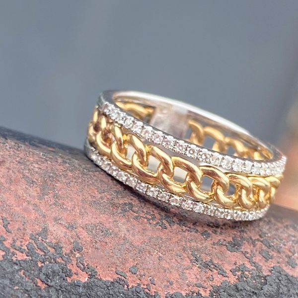 14 kt White and Yellow Gold Diamond Ring Image 2 Parris Jewelers Hattiesburg, MS