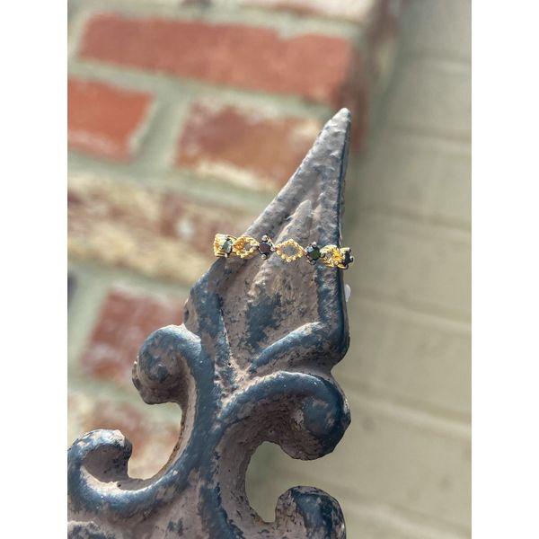 14 kt Yellow Gold Black Diamond Band  Image 2 Parris Jewelers Hattiesburg, MS