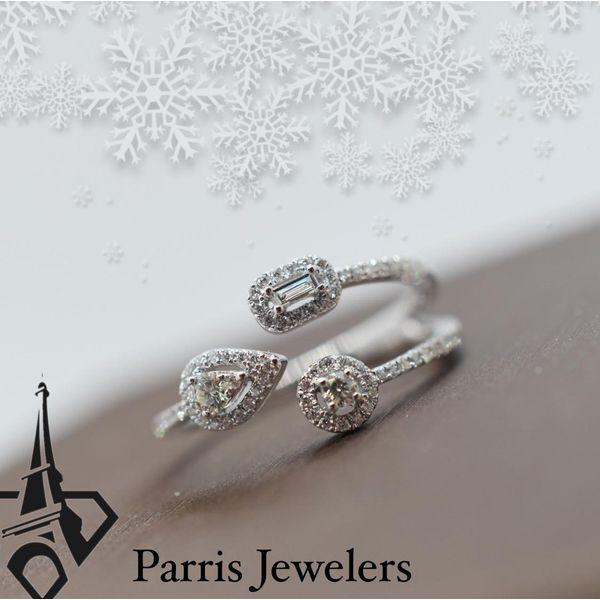 Three end diamond wrap ring Image 2 Parris Jewelers Hattiesburg, MS