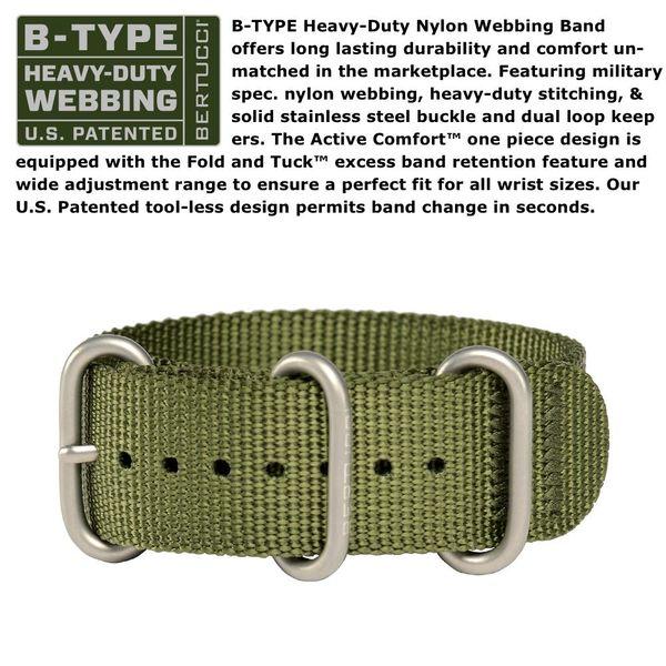 Bertucci Nylon Watch Band Image 2 Parris Jewelers Hattiesburg, MS