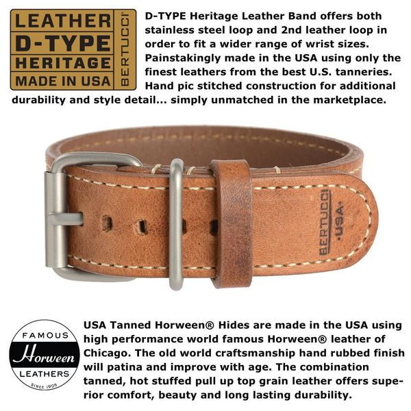Bertucci Leather Watch Band Image 2 Parris Jewelers Hattiesburg, MS