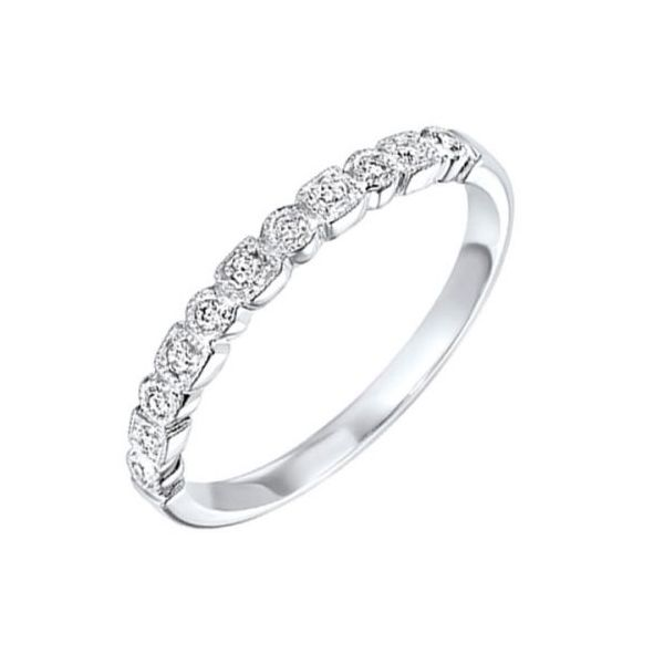 14 kt White Gold Diamond Stackable Band