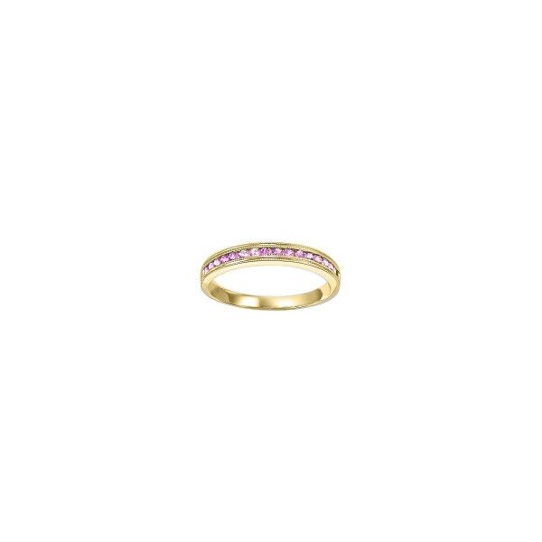 10 kt Yellow Gold Pink Sapphire Band