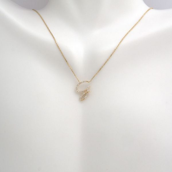 14 kt Yellow Gold Initial Necklace Image 2 Parris Jewelers Hattiesburg, MS