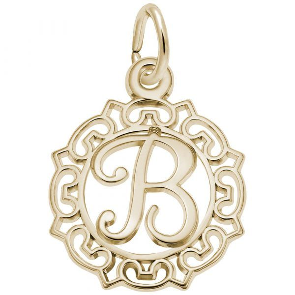Gold plated Initial Charm