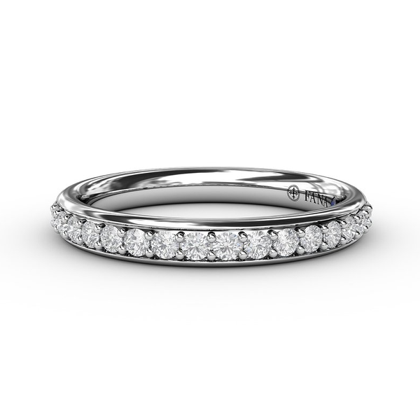 14 kt White Gold Diamond Wedding Band  Parris Jewelers Hattiesburg, MS