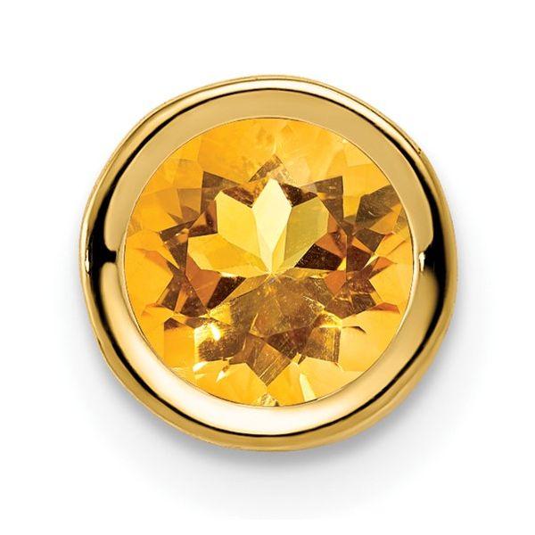 14k Yellow Gold Citrine Pendant