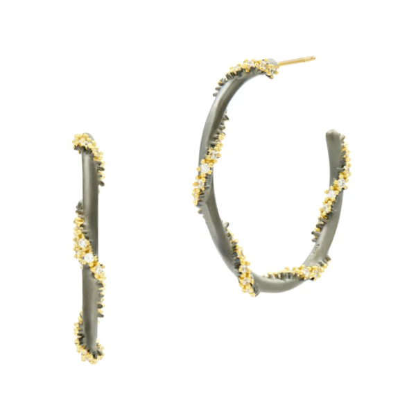 14K Gold Plated Rope Hoops