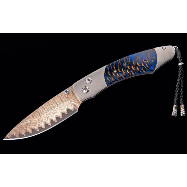William Henry pocket knife with pine cone in handle