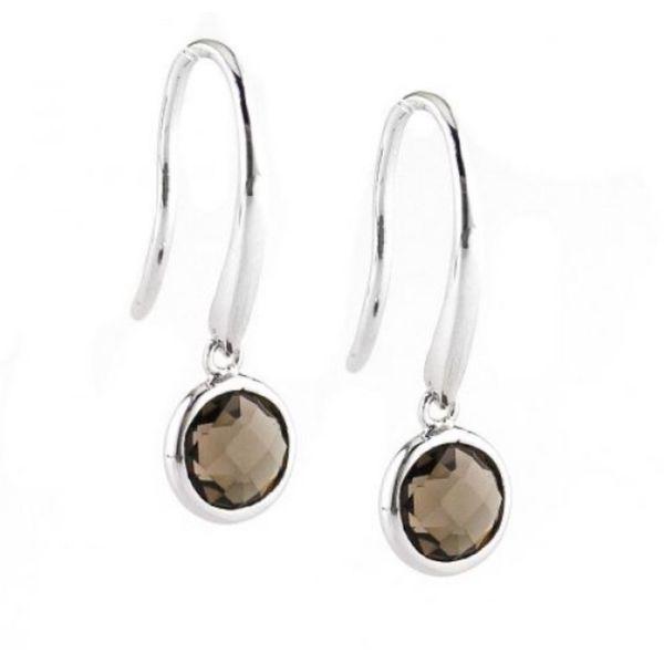 Sterling silver smokey topaz earrings