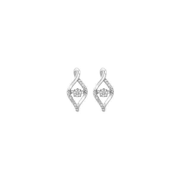 Sterling Silver Rhythm of love earrings