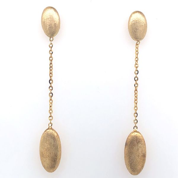 14 kt Yellow Gold Double-Ovals on Chain Earrings