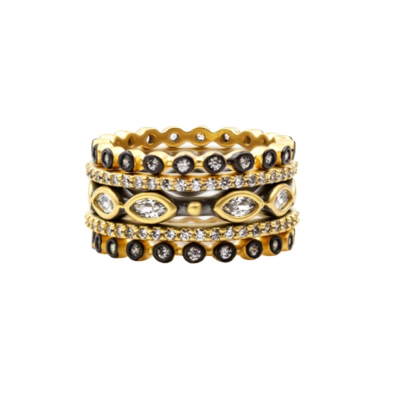14K Gold Plated Stackable Ring Set