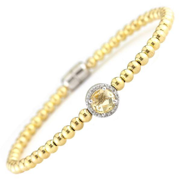 Gold Plated Citrine Magnetic Bracelet