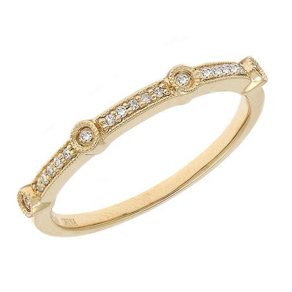 14 kt White Gold Diamond Band