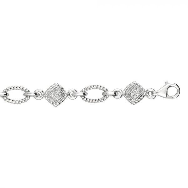 Silver Rope .25ct Diamond Bracelet