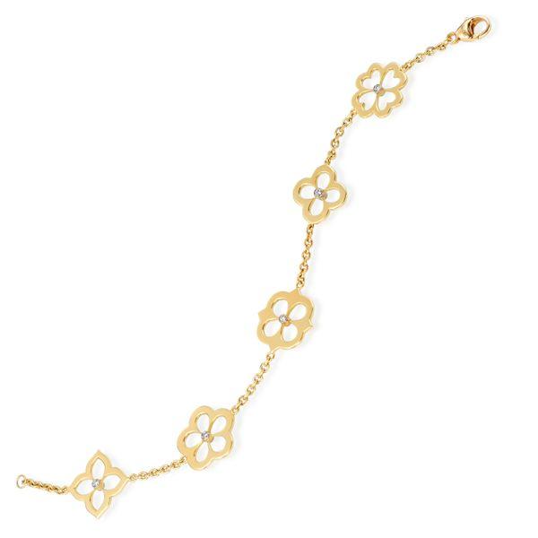 18 kt Flower Bracelet with Diamonds