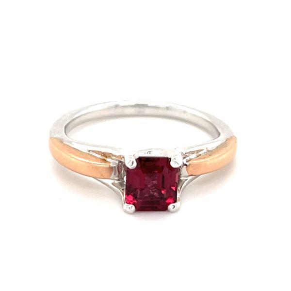 Two Tone Custom Malaya Garnet Ring