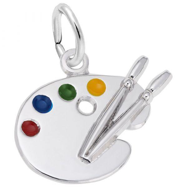 Sterling Silver Artist Charm