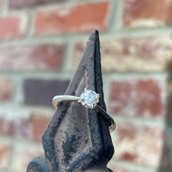 14 kt White Gold Diamond Engagement Ring  Image 2 Parris Jewelers Hattiesburg, MS
