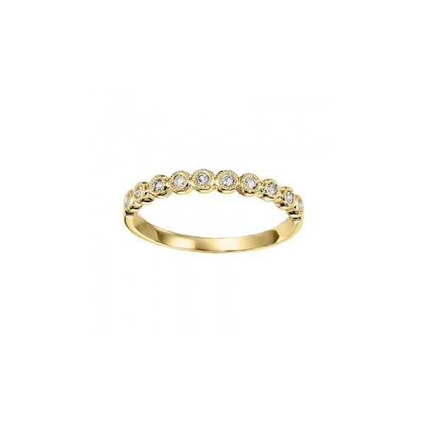 14 kt Yellow Gold Diamond Stackable Band