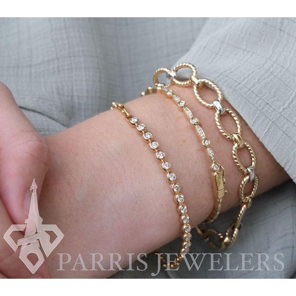18K Diamond Bezel Bracelet Image 2 Parris Jewelers Hattiesburg, MS