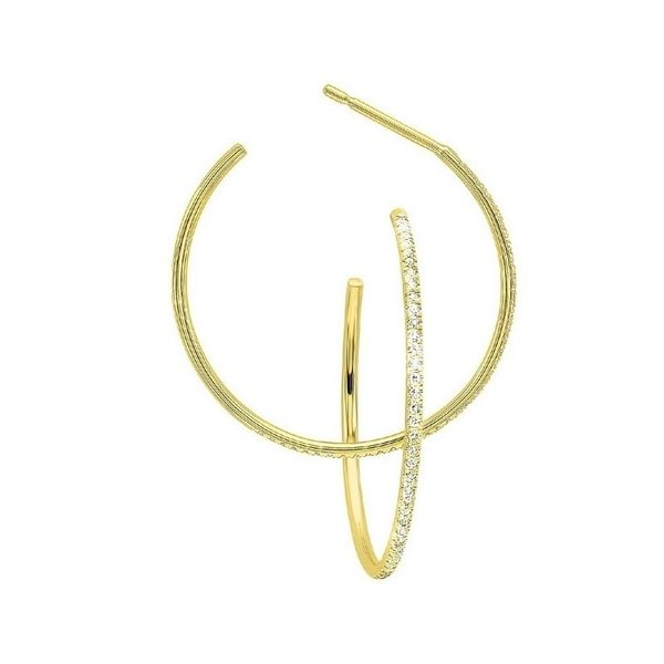 14 kt Yellow Gold Diamond Hoops