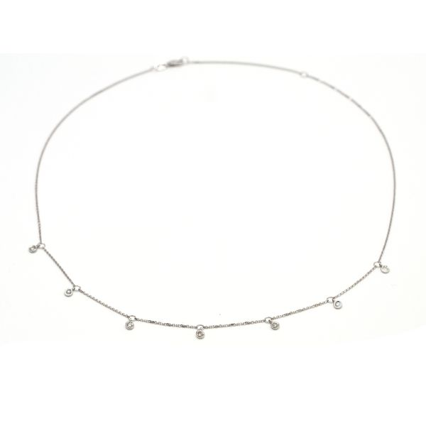 14 kt White Gold Diamond by the Yard Necklace