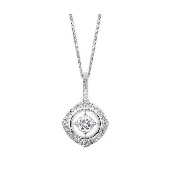 10K White Gold Diamond Pendant