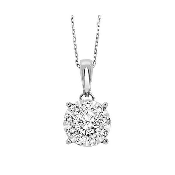 14 kt White Gold Diamond Pendant