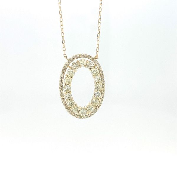 10 kt Yellow Gold Diamond Necklace