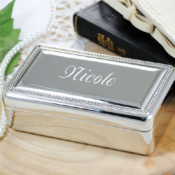 Beaded edge keepsake box with velvet lining