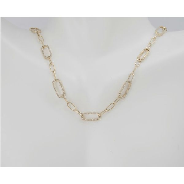 Diamond Paperclip Necklace