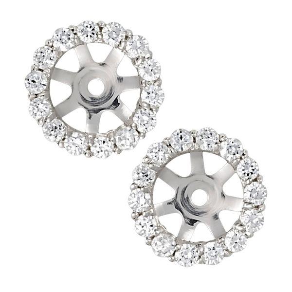 14 kt White Gold Diamond Earring Jackets